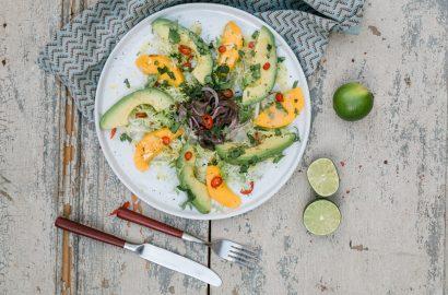 Ceviche vom Neuseelandhirsch mit Mango-Avocado-Salat